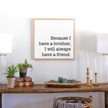 Load image into Gallery viewer, Modern farmhouse brothers sign for little boys room and nursery