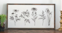 Load image into Gallery viewer, Blooming Botanical Wood Sign