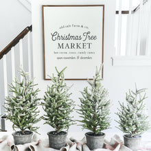 Load image into Gallery viewer, Old Salt Farm Christmas Tree Market Farmhouse Sign