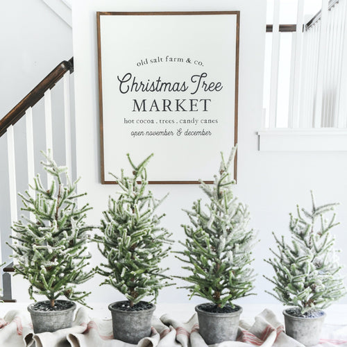 Old Salt Farm Christmas Tree Market Farmhouse Sign