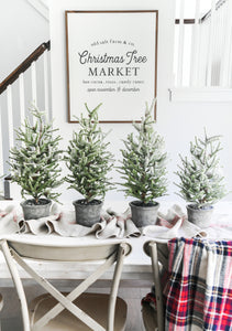 View of Christmas Tree Market Farmhouse SIgn