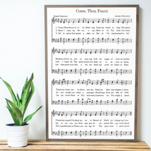 Load image into Gallery viewer, Come Thou Fount Sheet Music Wood Sign