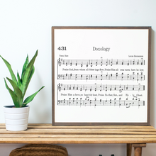 Load image into Gallery viewer, Doxology Sheet Music Wood Sign
