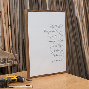 May the Lord framed wood sign in sign shop