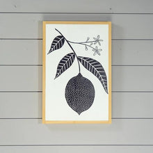 Load image into Gallery viewer, Lemon Botanical Wood Sign