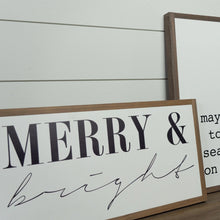 Load image into Gallery viewer, Merry & Bright Wood Sign