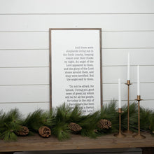 Load image into Gallery viewer, Christmas wood sign with Christmas Story Luke 2