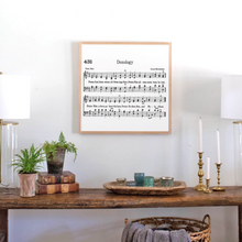 Load image into Gallery viewer, Doxology Hymn Wood Sign with natural frame