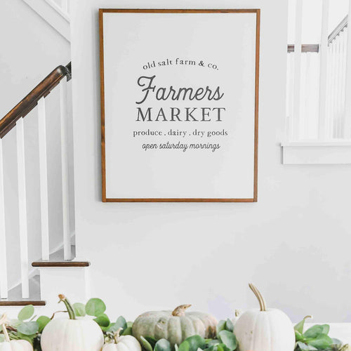 Old Salt Farm Farmers Market Sign