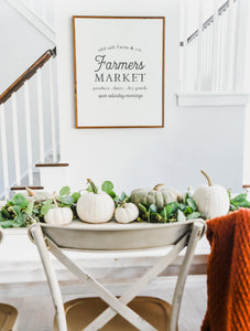 Old Salt Farm Farmers Market Farmhouse Wood Sign