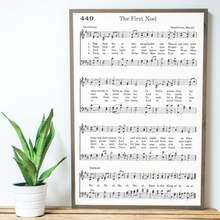 Load image into Gallery viewer, The First Noel Sheet Music framed wood sign