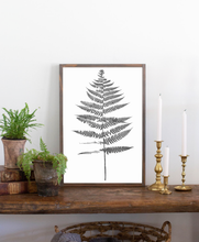 Load image into Gallery viewer, Modern farmhouse sign with fern graphic 1