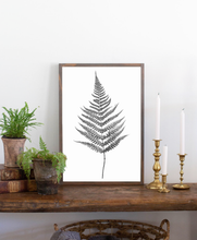 Load image into Gallery viewer, Wood sign with fern graphic 3