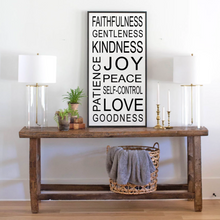 Load image into Gallery viewer, Fruit of the spirit modern farmhouse sign