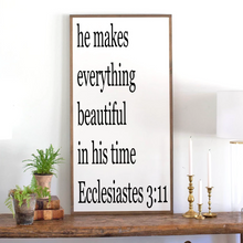 Load image into Gallery viewer, Framed wood sign with Bible verse Ecclesiastes