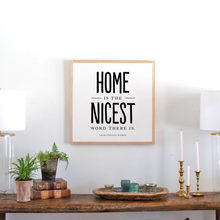 Load image into Gallery viewer, Home is the Nicest Wood Sign