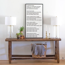 Load image into Gallery viewer, Large wood sign with lyrics to How Great Thou Art