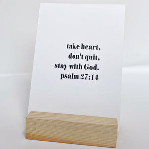Scripture Prints and Wood Block