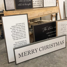 Load image into Gallery viewer, Merry Christmas (horizontal) Wood Sign