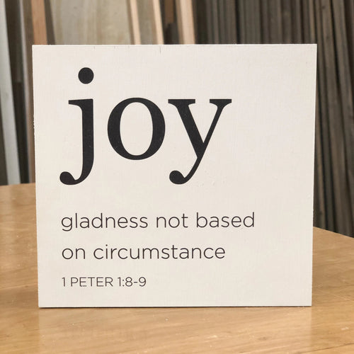 Joy Small Sign