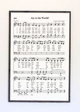 Load image into Gallery viewer, joy to the world sheet music framed wood sign