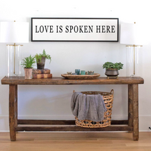 Load image into Gallery viewer, Love Is Spoken Here Wood Sign