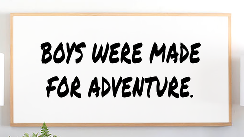 Boys Were Made for Adventure Wood Sign