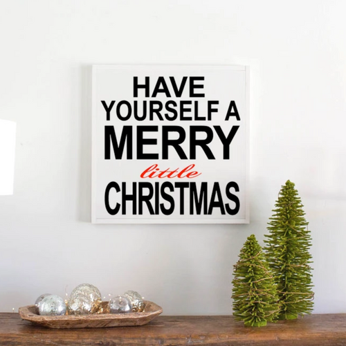 Merry Little Christmas holiday farmhouse sign
