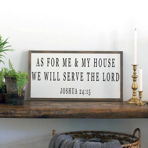 As for Me and My House Joshua 21 15 Scripture farmhouse sign