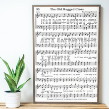Load image into Gallery viewer, The Old Rugged Cross Sheet Music Wood Sign