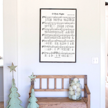 Load image into Gallery viewer, O Holy Night sheet music sign with black frame