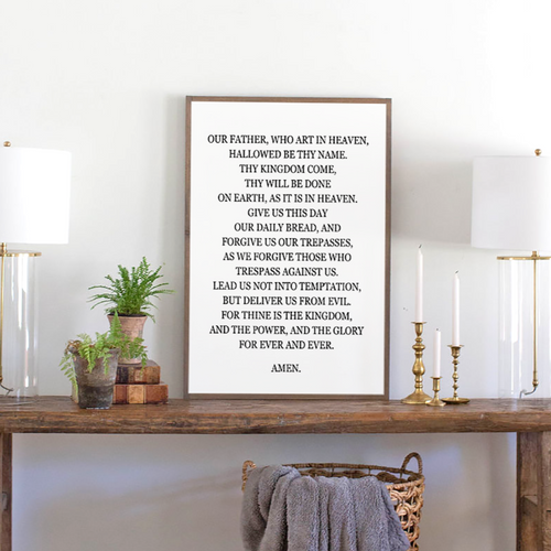 The Lord's Prayer Wood Sign