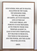 Load image into Gallery viewer, The Lord's Prayer Wood Sign