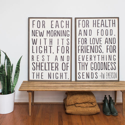 Ralph Waldo Emerson (set of 2) Wood Signs