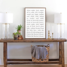 Load image into Gallery viewer, Silent Night Lyrics Wood Sign