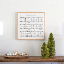 Load image into Gallery viewer, Silent Night Sheet Music Wood Sign