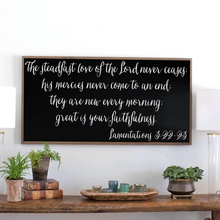 Load image into Gallery viewer, Steadfast Love Wood Sign