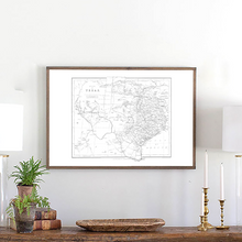 Load image into Gallery viewer, Framed wood sign of Texas map