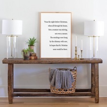 Load image into Gallery viewer, Twas the Night Before Christmas modern farmhouse sign