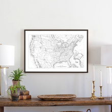 Load image into Gallery viewer, United Stated map framed wood sign