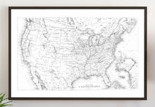 Load image into Gallery viewer, Farmhouse wood sign with vintage United States map