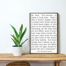 Load image into Gallery viewer, Velveteen Rabbit Wood Sign