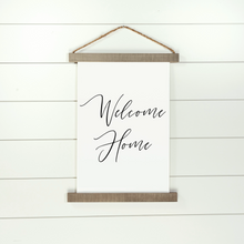 Load image into Gallery viewer, Welcome Home Hanging Canvas Sign