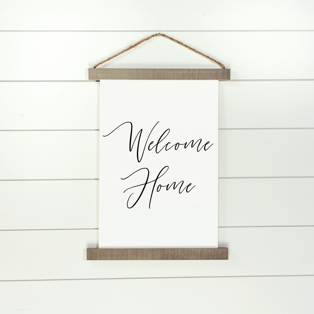 Welcome Home Canvas Hanging Sign