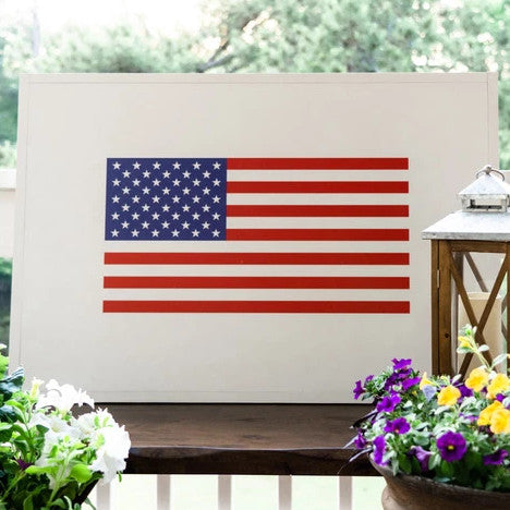 Ready to Ship- Traditional American Flag (24x36 inches) Wood Sign