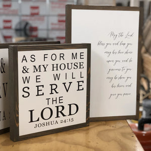Layered wood signs May the Lord and As for me and my house