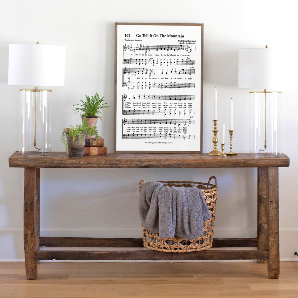 Go Tell It on the Mountain Sheet Music Sign