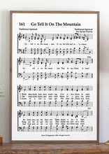 Load image into Gallery viewer, Zoom Go Tell It on the Mountain Sheet Music Sign