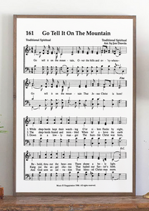 Zoom Go Tell It on the Mountain Sheet Music Sign