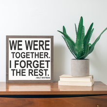 Load image into Gallery viewer, Framed wood sign with Walt Whitman quote